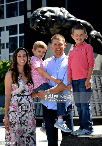 Rachel Adam Andy and Ryan Lee on Wednesday May 3 2017 at Bank of America Stadium in Charlotte NC In 2015 Andy and Rachel lost their daughter Madelyn...