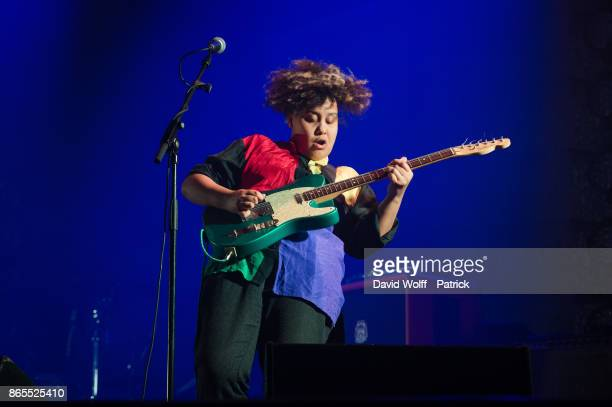Rachel Aggs from Sacred Paws opens for Mogwai at Le Grand Rex on October 24 2017 in Paris France