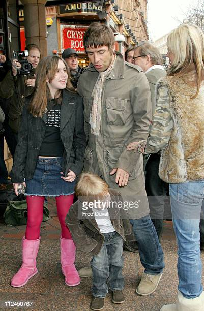 Rachel Appleton Gene Gallagher Liam Gallagher and Nicole Appleton