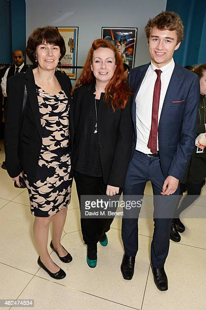 Rachel Barnes neice of Alan Turing costume designer Sammy Sheldon Differ and Tom Barnes and attends a special screening of 'The Imitation Game'...