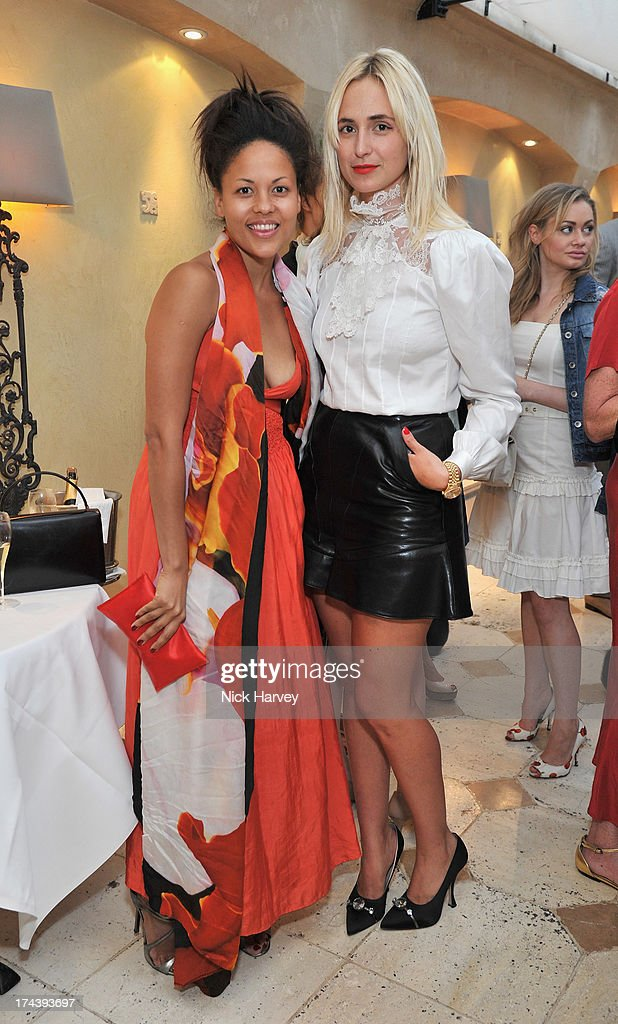 Rachel Barret and Elisabeth von Thurn und Taxis attend Daphne's evening of dinner & dancing at Daphne's on July 24, 2013 in London, England.