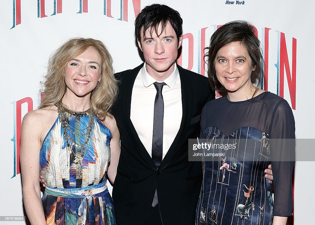 Rachel Bay Jones, Matthew James and Diane Paulus attends the after party for the Broadway opening night of 'Pippin' at Slate on April 25, 2013 in New York City.