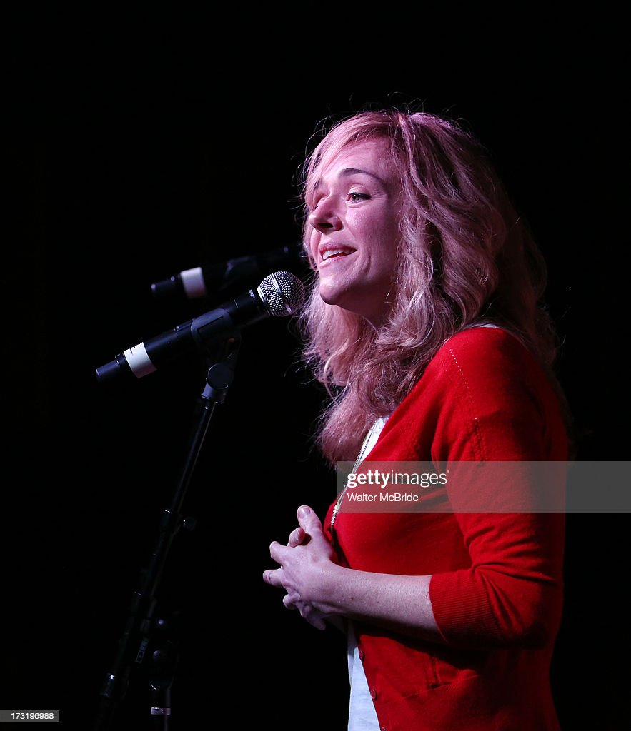 Rachel Bay Jones performs at the Broadway cast of 'Pippin' performance and CD signing at Barnes & Noble, 86th & Lexington on July 9, 2013 in New York City.