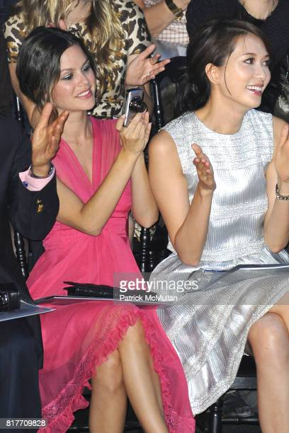 Rachel Bilson and Lin Chiling attend Christian Dior Ready to Wear SpringSummer 2011CONTACT SIPA PRESS FOR SALES at Espace Ephemere Tuileries on...