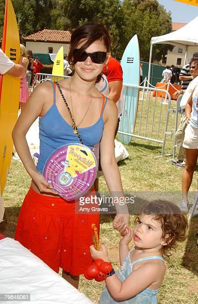 Rachel Bilson and sister Hattie with Tamagotchi Connection Virtual Pet