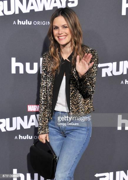 Rachel Bilson arrives at the premiere of Hulu's 'Marvel's Runaways' at Regency Bruin Theatre on November 16 2017 in Los Angeles California
