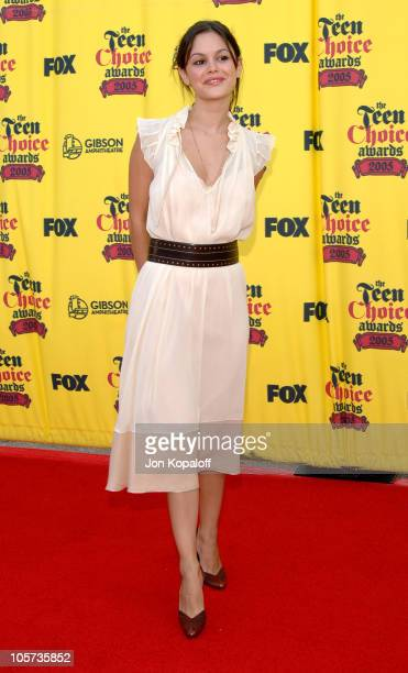 Rachel Bilson during 2005 Teen Choice Awards Arrivals at Gibson Amphitheater in Universal City California United States