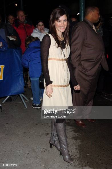 Rachel Bilson during Rachel Bilson and Barbara Walters Visit The Late Show with David Letterman February 22 2005 at Ed Sullivan Theatre in New York...