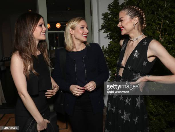 Rachel Bilson Kristen Bell and Jamie King attend An Evening To Benefit The ACLU Of Southern California on March 4 2017 in Los Angeles California