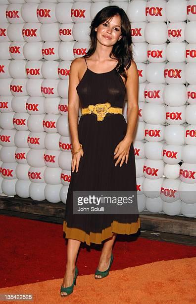 Rachel Bilson of 'The OC' during FOX Summer 2005 AllStar Party Red Carpet at Santa Monica Pier in Santa Monica California United States