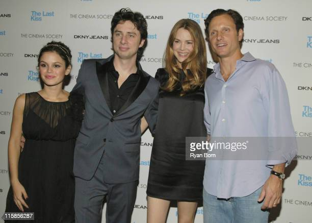 Rachel Bilson Zach Braff Jacinda Barrett and Tony Goldwyn at The Cinema Society and DKNY Jeans Special Screening of 'The Last Kiss'