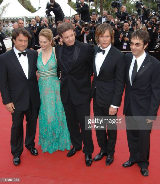 Rachel Blanchard Colin Firth and Kevin Bacon during Cannes 2005 Film Festival 'Where The Truth Lies' Premiere at Palais Du Festival in Cannes France