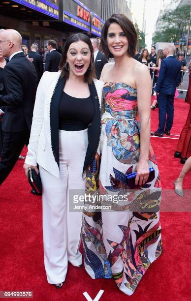 Rachel Bloom and Cobie Smulders attend the 2017 Tony Awards at Radio City Music Hall on June 11 2017 in New York City