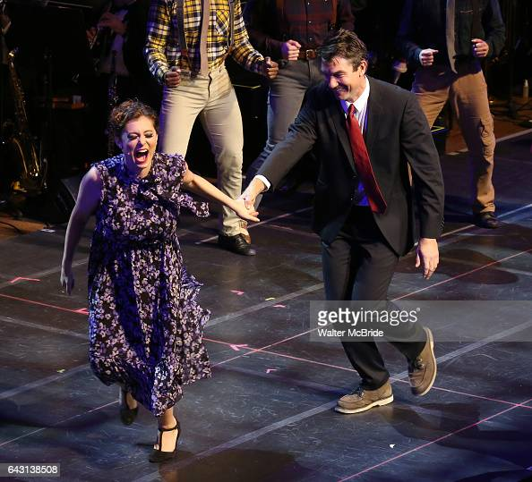 Rachel Bloom and Jerry O'Connell during the Manhattan Concert Productions 25th Anniversary concert performance of 'Crazy for You' at David Geffen...