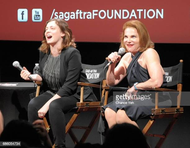 Rachel Bloom and Tovah Feldshuh attend SAGAFTRA Foundation Conversations 'Crazy ExGirlfriend' with Rachel Bloom and Tovah Feldshuh moderated by Mark...