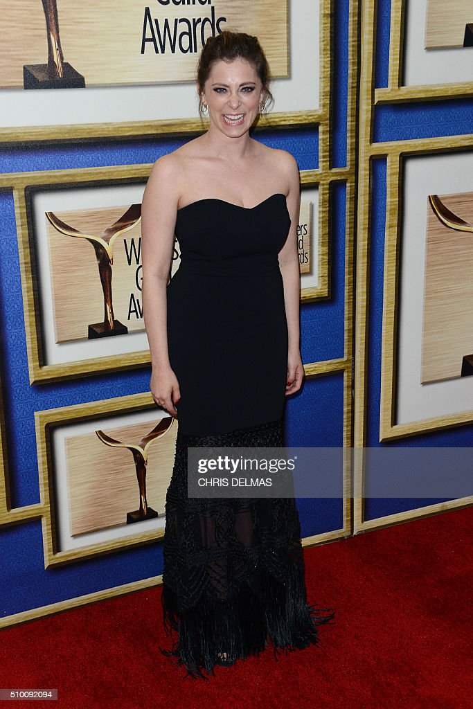 Rachel Bloom arrives for the Writers Guild Awards in Century City, California, February 13, 2016. / AFP / CHRIS DELMAS