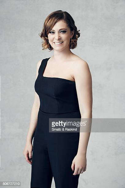 Rachel Bloom poses for a portrait during the 21st Annual Critics' Choice Awards at Barker Hangar on January 17 2016 in Santa Monica California
