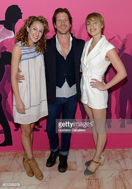 Rachel Boone Christopher Tierney and Jenny Winton attends the 'Dirty Dancing' preview at Broward Center For The Performing Arts on April 14 2016 in...