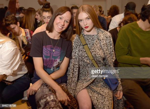 Rachel Bremmer and Larsen Thompson attend Barragan fashion show during New York Fashion Week The Shows at Gallery 2 Skylight Clarkson Sq on September...