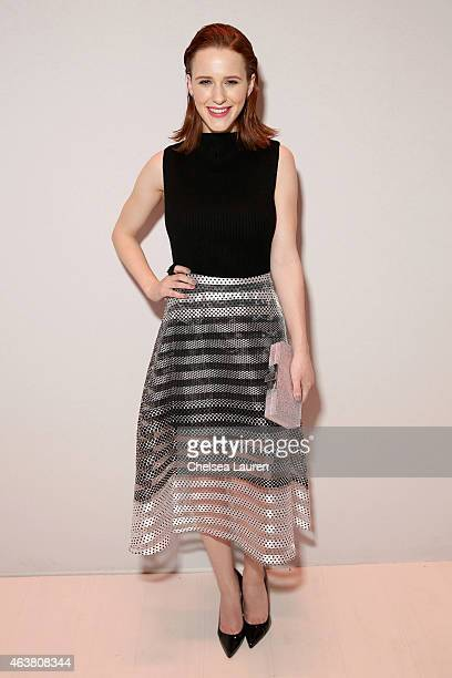 Rachel Brosnahan attends the Erin Fetherston fashion show during MercedesBenz Fashion Week Fall 2015 at The Salon at Lincoln Center on February 18...