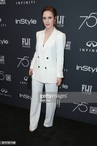 Rachel Brosnahan attends the Hollywood Foreign Press Association and InStyle celebrate the 75th Anniversary of The Golden Globe Awards at Catch LA on...
