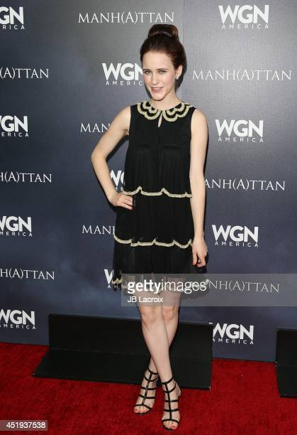 Rachel Brosnahan attends WGN America's 'Manhattan' Panel during TCA at The Beverly Hilton Hotel on July 9 2014 in Beverly Hills California