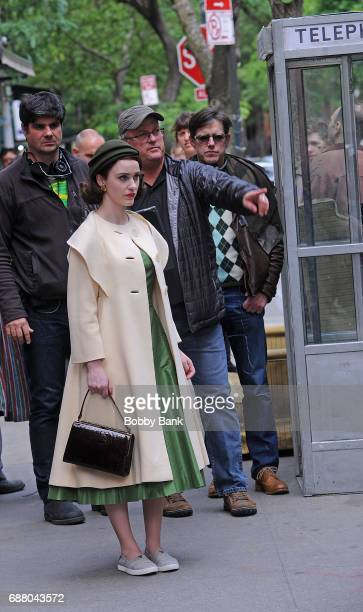 Rachel Brosnahan on the set of 'The Marvelous Mrs Maisel' on May 24 2017 in New York City