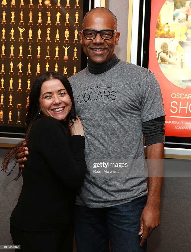 Rachel Delmolfetto (L) and Patrick Harrison attend Oscar Celebrates: Documentary Short Subjects at the Academy Theater at Lighthouse International on February 17, 2013 in New York City.