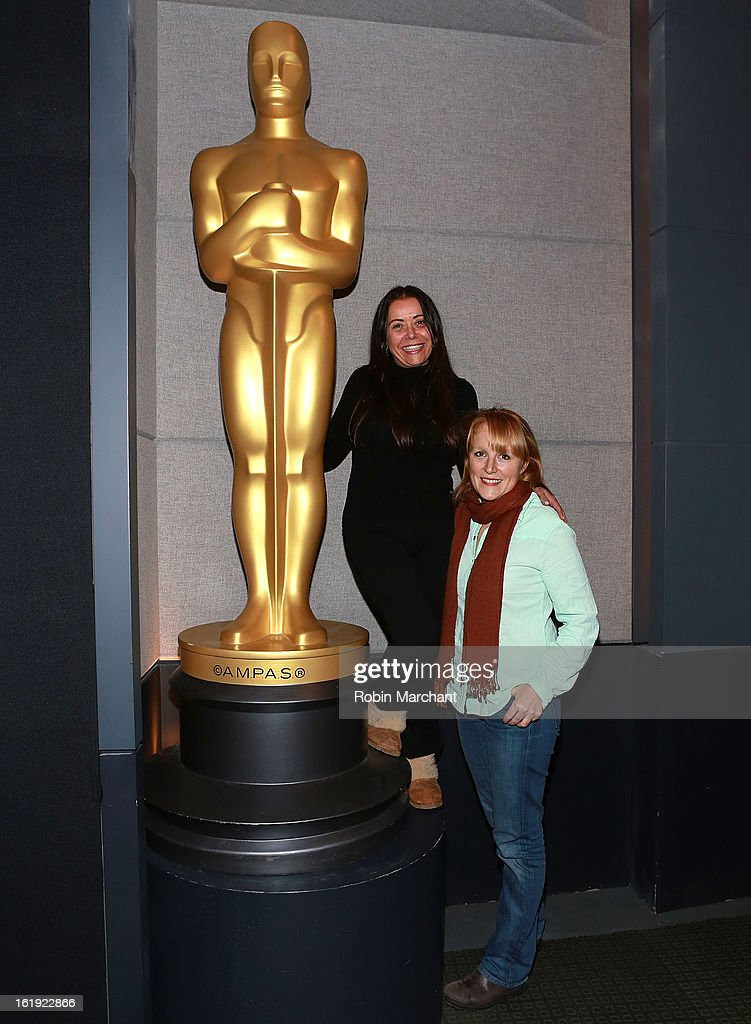 Rachel Delmolfetto (L) and Robin Honan attend Oscar Celebrates: Documentary Short Subjects at the Academy Theater at Lighthouse International on February 17, 2013 in New York City.