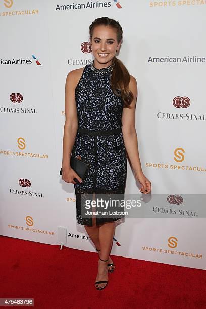 Rachel DeMita arrives on the red carpet at the 2015 CedarsSinai Sports Spectacular at the Hyatt Regency Century Plaza on May 31 2015 in Century City...