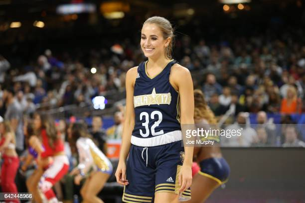 Rachel DeMita of the East Team prepares for the NBA AllStar Celebrity Game as a part of 2017 AllStar Weekend at the MercedesBenz Superdome on...