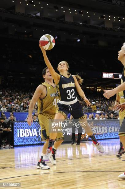 Rachel DeMita of the East Team shoots the ball against the West Team during the NBA AllStar Celebrity Game as a part of 2017 AllStar Weekend at the...