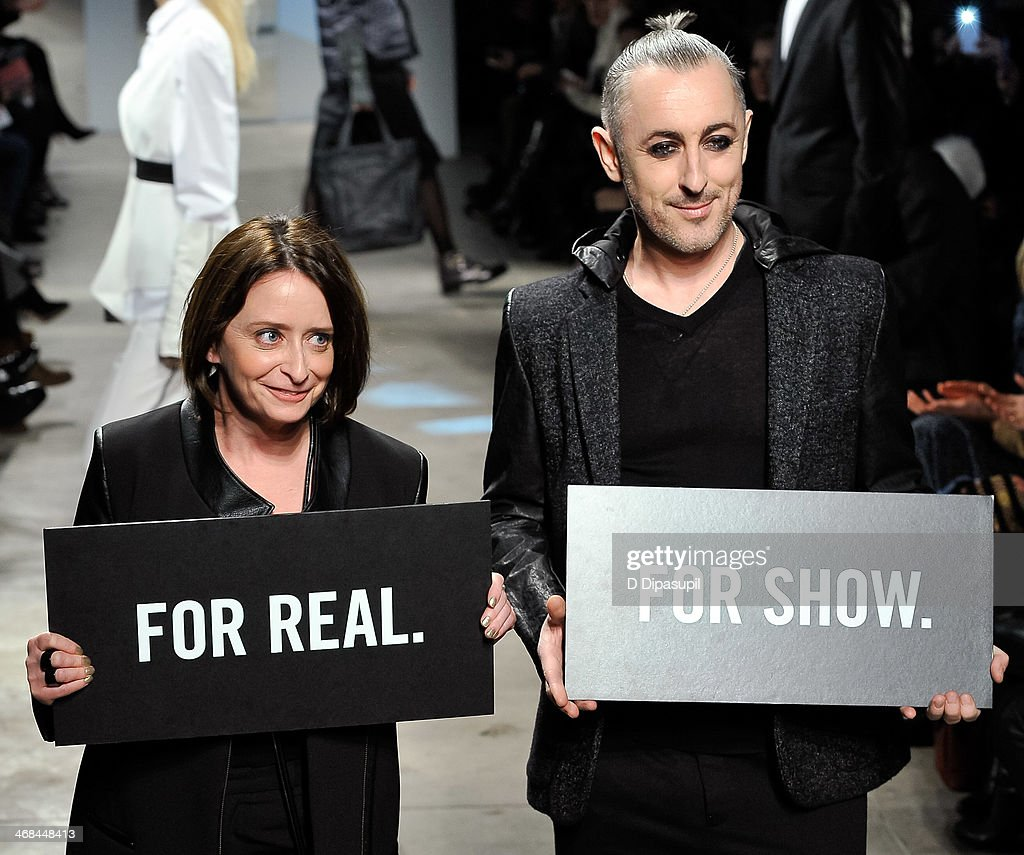 <a gi-track='captionPersonalityLinkClicked' href=/galleries/search?phrase=Rachel+Dratch&family=editorial&specificpeople=209387 ng-click='$event.stopPropagation()'>Rachel Dratch</a> (L) and <a gi-track='captionPersonalityLinkClicked' href=/galleries/search?phrase=Alan+Cumming&family=editorial&specificpeople=202521 ng-click='$event.stopPropagation()'>Alan Cumming</a> attend the Kenneth Cole Collection fashion show during Mercedes-Benz Fashion Week Fall 2014 at The Garage By Kenneth Cole on February 10, 2014 in New York City.