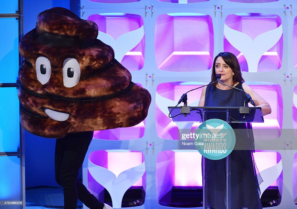 Rachel Dratch and Emoji onstage during the 7th Annual Shorty Awards on April 20 2015 in New York City