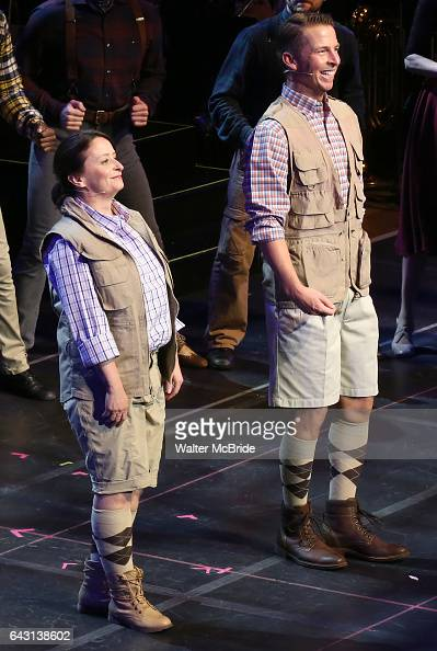 Rachel Dratch and Jack McBrayer during the Manhattan Concert Productions 25th Anniversary concert performance of 'Crazy for You' at David Geffen Hall...