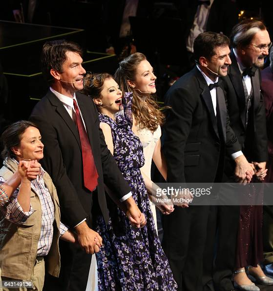 Rachel Dratch Jerry O'Connell Rachel Bloom Laura Osnes Tony Yazbeck and Harry Groener during the Manhattan Concert Productions 25th Anniversary...
