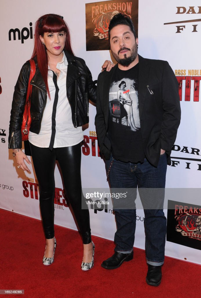 Rachel Federoff and Destin Pfaff attend 'Stitches' - Los Angeles Premiere at Cinespace on April 1, 2013 in Los Angeles, California.