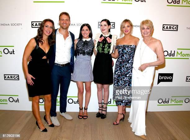 Rachel Feinstein Sean Kleier KK Glick Jill Kargman Abby Elliott and Joanna Cassidy attend The Cinema Society and Kargo host the season 3 premiere of...