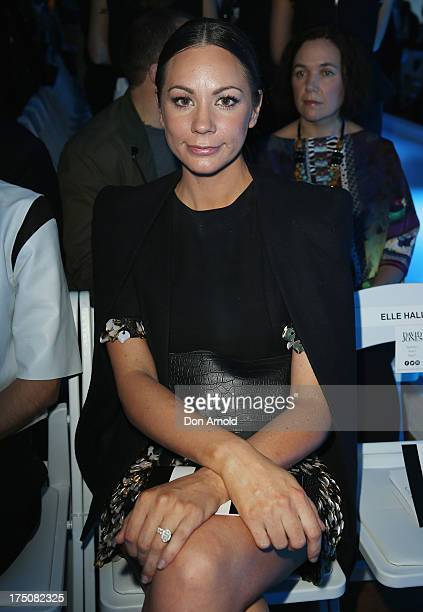 Rachel Gilbert sits front row at the David Jones Spring/Summer 2013 Collection Launch at David Jones Elizabeth Street on July 31 2013 in Sydney...