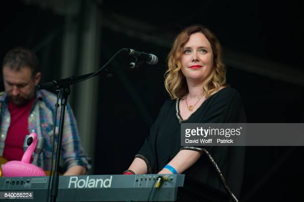 Rachel Goswell from Slowdive performs during Rock en Seine Festival at Domaine National de SaintCloud on August 27 2017 in Paris France