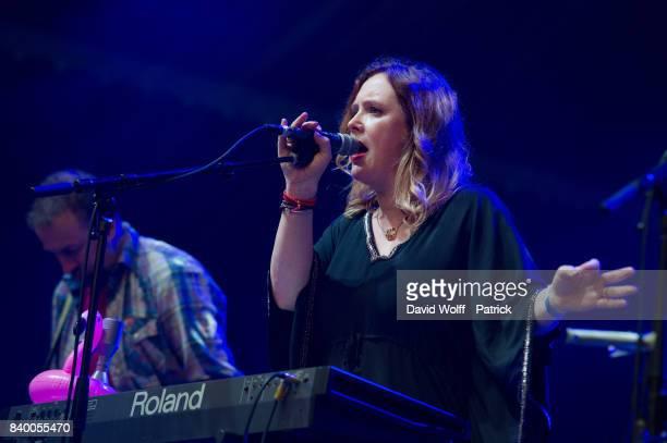 Rachel Goswell from Slowdive performs during Rock en Seine Festival at Domaine National de SaintCloud on August 27 2017 in Paris France