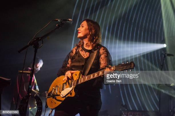 Rachel Goswell from Slowdive performs live at O2 ABC Glasgow on October 9 2017 in Glasgow Scotland