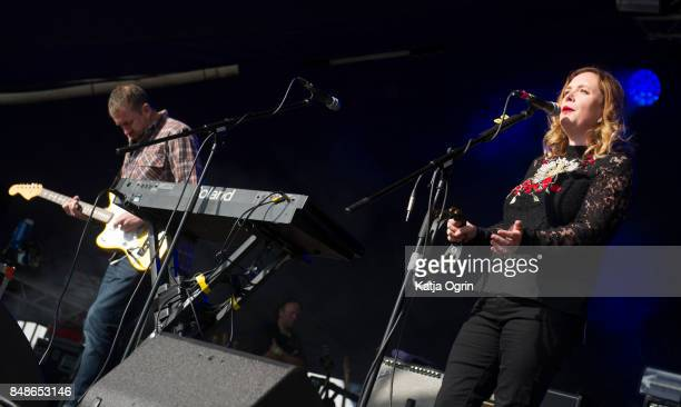 Rachel Goswell of Slowdive performing on stage at Beyond The Tracks Festival on September 17 2017 in Birmingham England
