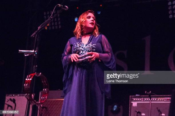 Rachel Goswell of Slowdive performs at The Crack Stage on Day 1 of Field Day Festival at Victoria Park on June 3 2017 in London England