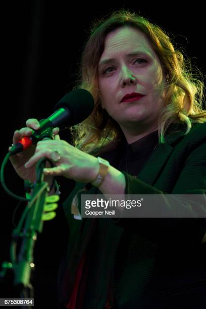 Rachel Goswell of Slowdive performs during Fortress Festival on April 30 2017 in Fort Worth Texas