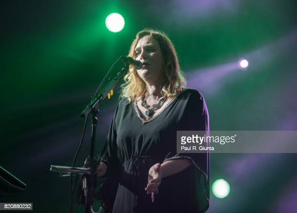 Rachel Goswell of Slowdive performs on stage during Day 1 of FYF Fest 2017 on July 21 2017 in Los Angeles California