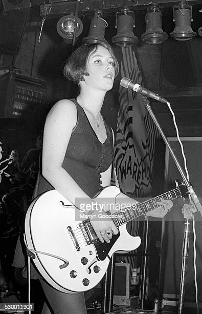 Rachel Goswell of Slowdive performs on stage United Kingdom 1991