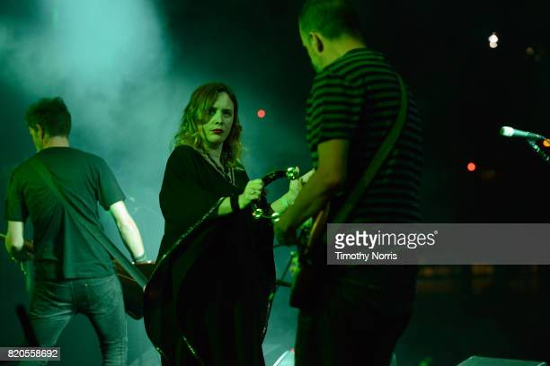 Rachel Goswell of Slowdive performs onstage during day 1 of FYF Fest 2017 on July 21 2017 at Exposition Park in Los Angeles California