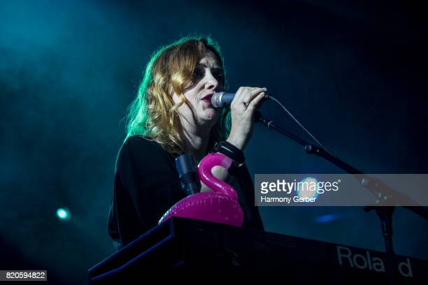 Rachel Goswell of the band Slowdive performs at FYF Festival on July 21 2017 in Los Angeles California