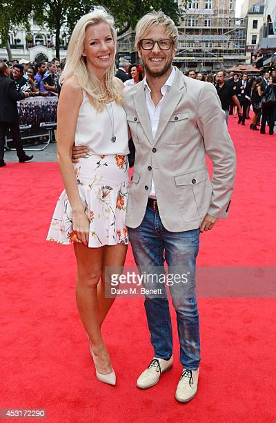 Rachel Gretton and Rick Parfitt Jnr attend the World Premiere of 'The Expendables 3' at Odeon Leicester Square on August 4 2014 in London England